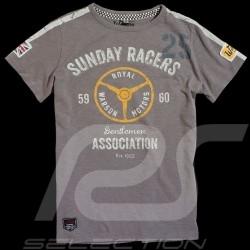 Tee-shirt homme Sunday Racers gris t-shirt men herren