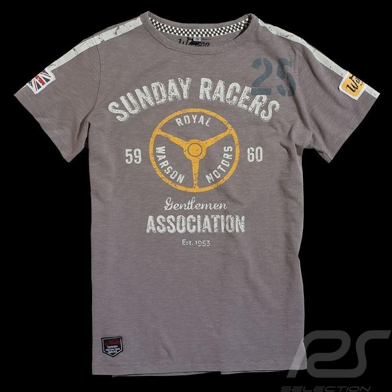 T-shirt Sunday Racers gris - homme