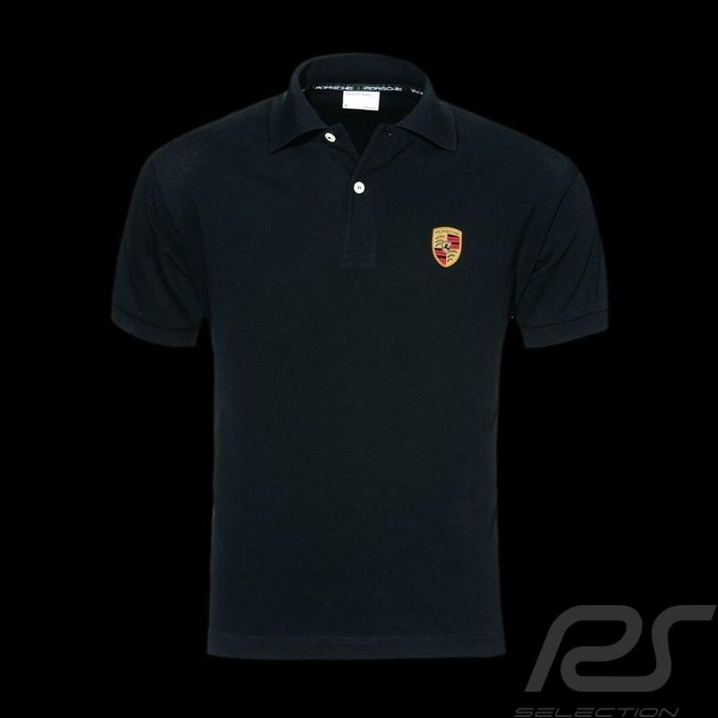 porsche polo shirt crest black porsche design wap592 men. Black Bedroom Furniture Sets. Home Design Ideas