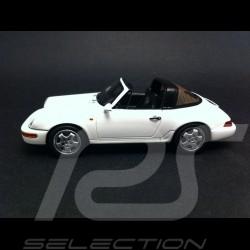 Porsche 911 964 Targa 1990 blanc 1/43 Spark S4472
