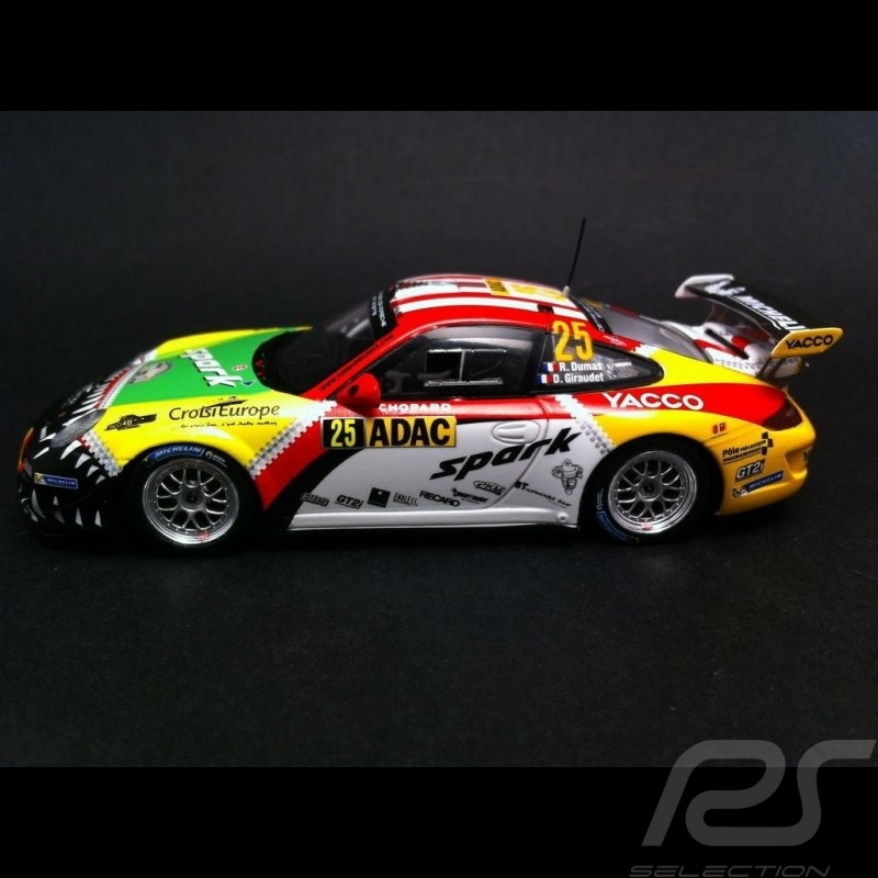 Porsche 911 GT3 type 997 n° 25 Vainqueur Winner Sieger RGT ADAC 2015 1/43 Spark SG225