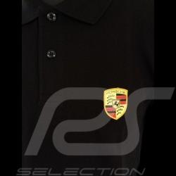 Porsche Polo Shirt Wappen Schwarz Porsche WAP592B - Herren