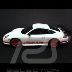 Porsche 996 GT3 RS blanc / rouge 1/43 Spark S4473