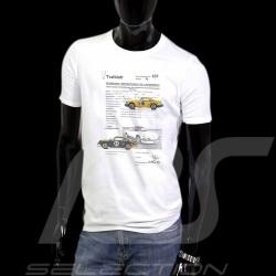 T-Shirt homme Porsche 911 Testblatt 637 Original Race blanc