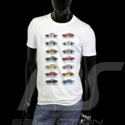 T-Shirt Porsche 911 voitures course blanc - homme