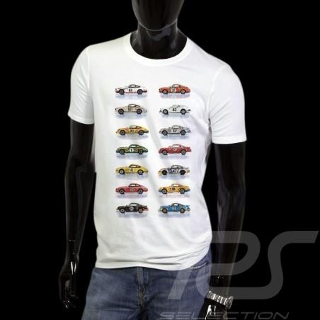 T-Shirt Porsche 911 Rennenvagen weiß - Herren