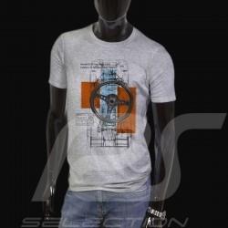 T-Shirt Herren Porsche 917  grau