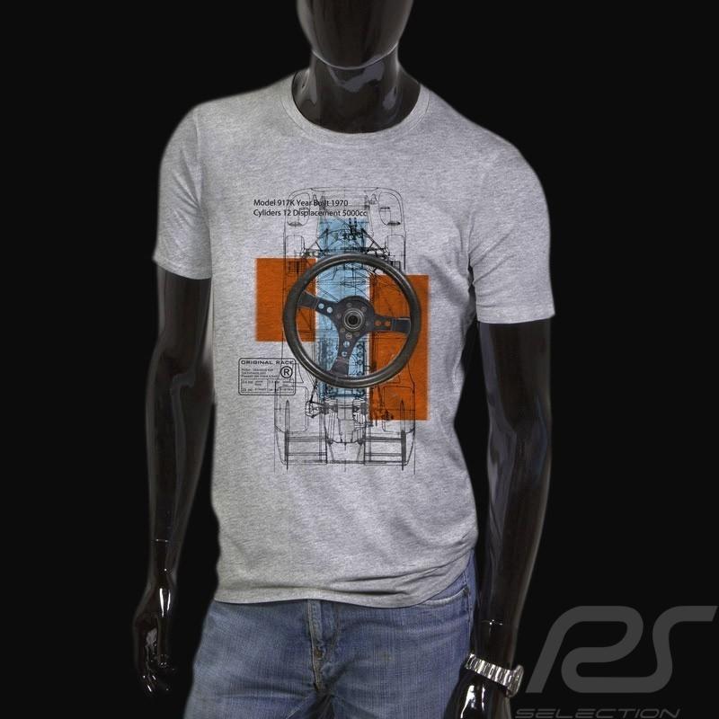 Men's T-shirt Porsche 917  grey