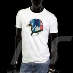 T-Shirt Herren Pilot Helm 24h du Mans weiß