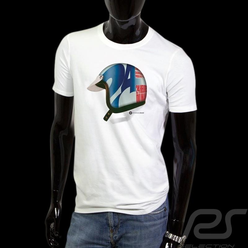 T-Shirt 24h du Mans casque pilote pilot helmet  Pilot Helm homme men herren
