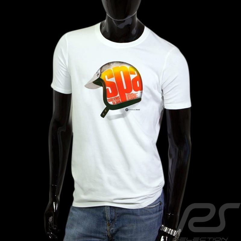 T-Shirt Herren Pilot Helm 1000 km de Spa weiß