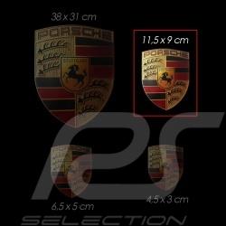Wappen-Aufkleber Porsche 11,5 x 9 cm