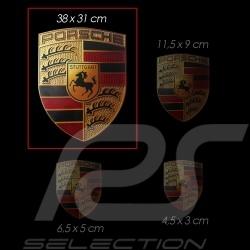 Grand Autocollant emblème Porsche 38x31 cm WAP013004