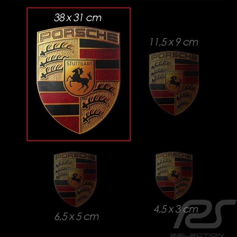 Large Sticker emblem Porsche 38x31 cm WAP013004