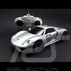 Porsche 918 Spyder argent radiocommandée 40MHz 1/24