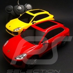 Duo Porsche Macan Turbo jaune / rouge radiocommandée 27 / 40 MHz 1/24