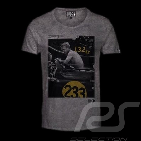 T-Shirt Steve McQueen Race 233 grau - Herren