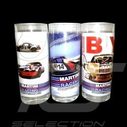 Set von 3 Gläser Porsche Martini Racing Longdrink