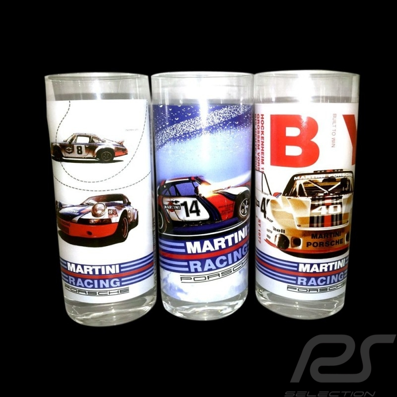 Set de 3 verres Porsche Martini Racing Long drink Set of 3 long drinks Set von 3 Gläser