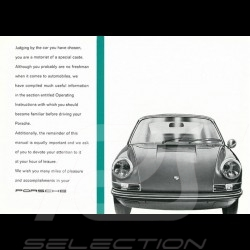 Reproduction Brochure Porsche 911 E 1972