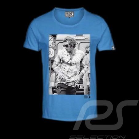 T-Shirt Herren Steve McQueen Stehen blau