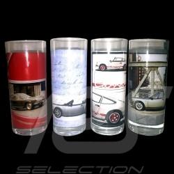 Set of 4 long drinks Porsche 911