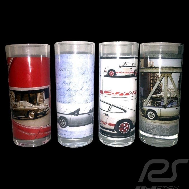 Set de 4 verres Porsche 911 Long drink Set of 4 long drinks Set von 4 Gläser Longdrink