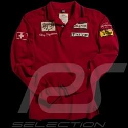 Polo Clay Regazzoni n° 4 rouge homme men herren manches longues long sleeves langen Ärmeln