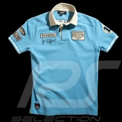 Men's Polo shirt Jo Siffert n° 12 Gulf blue
