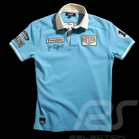 Men's Polo shirt Jo Siffert n° 12 Gulf blue