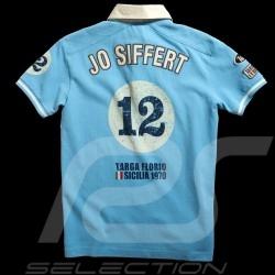 Herren Polo-shirt Jo Siffert n° 12 Gulf blau
