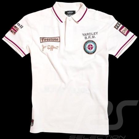 Herren Polo-shirt Jo Siffert n° 14 weiß
