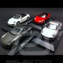 Quartett Porsche 991 Carrera et Carrera S coupé et Cabriolet 2012 1/43 Minichamps