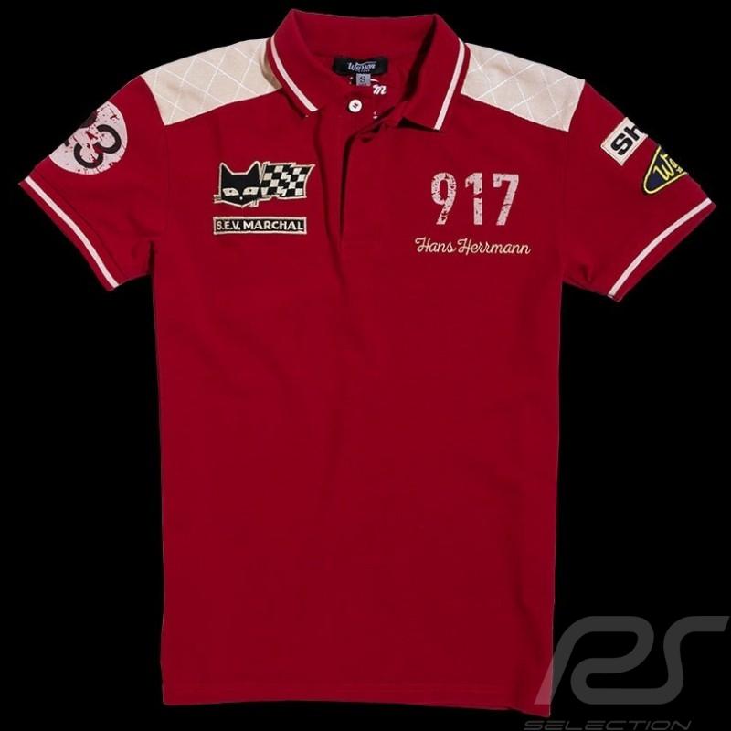 Polo homme Herrmann 917 n° 23 rouge MEN HERREN
