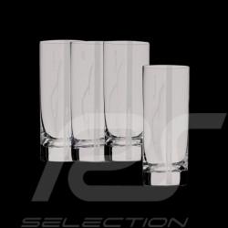Set de 4 verres gravés gamme Porsche Long drink