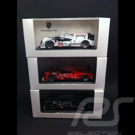 "Trio Porsche 919 Hybrid "" finish line "" Le Mans 2015 n° 19 / 17 / 18 1/43 Spark"