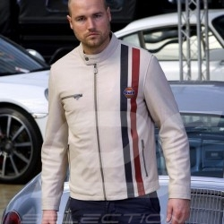 Gulf Steve McQueen blouson cuir beige - homme Lederjacke beige - Herren leather jacket beige - men
