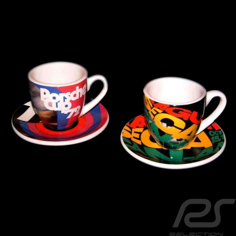 Set of 2 expresso cups Laguna Seca / Porsche Cup 1972