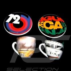 Set von 2 expresso tasse Laguna Seca / Porsche Cup 1972