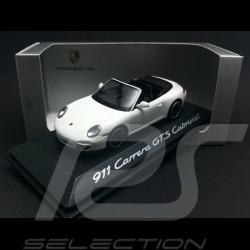 Porsche 997 Carrera GTS Cabriolet 2011 blanche white weiß 1/43 Minichamps WAP0200210B