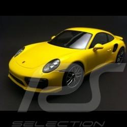 Porsche 911 type 991 Turbo S 2016 racing yellow 1/18 Spark WAP0211360G