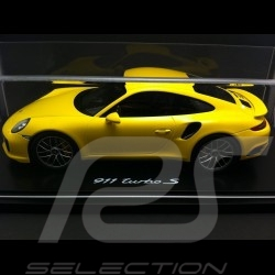 Porsche 911 type 991 Turbo S 2016 racing gelb 1/18 Spark WAP0211360G