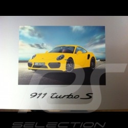 Porsche 911 type 991 Turbo S 2016 jaune racing 1/18 Spark WAP0211360G