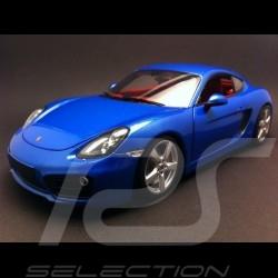 Porsche Cayman 981 2013 bleu 1/18 Minichamps 110062221
