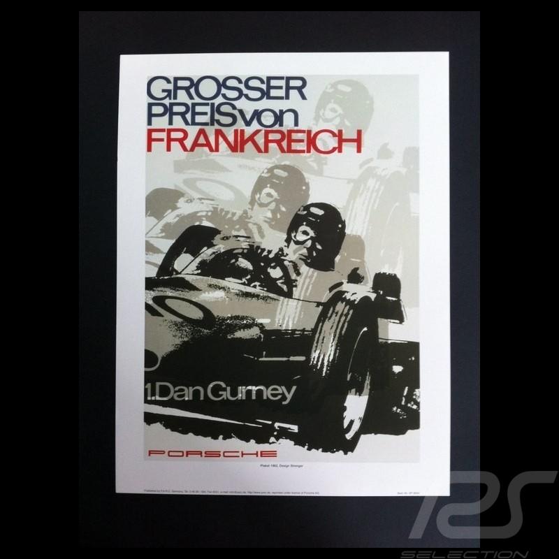 Porsche 804 Grosser Preis Von Frankreich Reproduction Dune Affiche