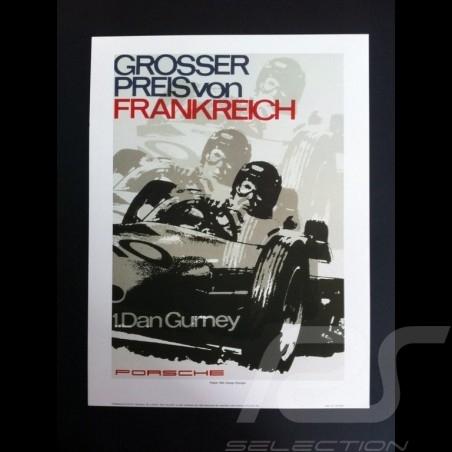 Porsche 804 Grosser Preis von Frankreich Wiedergabe einer originale Plakat von Erich Strenger