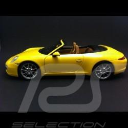 Porsche 911 type 991 Carrera S Cabriolet 2011 gelb 1/18 Minichamps 100061031
