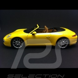 Porsche 911 type 991 Carrera S Cabriolet 2011 jaune 1/18 Minichamps 100061031