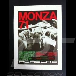 Porsche 917 K 1000 km Monza 1971 reproduction d'une affiche originale de Erich Strenger