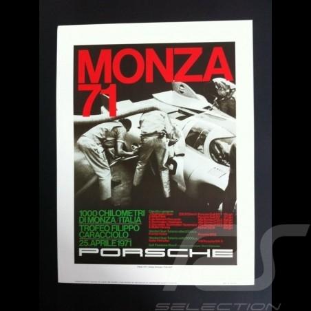 Porsche 917 K 1000 km Monza 1971 reproduction of an original poster by Erich Strenger